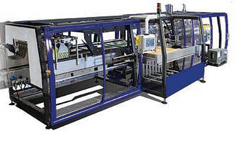 Wraparound Case Packer processes 45 cases/trays per minute.