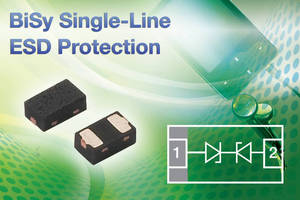 Single-Line ESD Protection Diode offers 14 pF capacitance.
