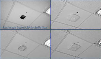 Locking Ceiling Mount secures wireless access points.