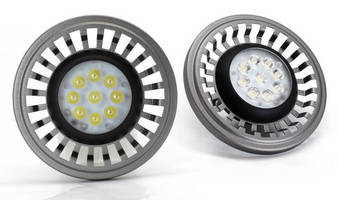 Efficient 10 W LED Lamps replace AR111/G53 halogen lamps.