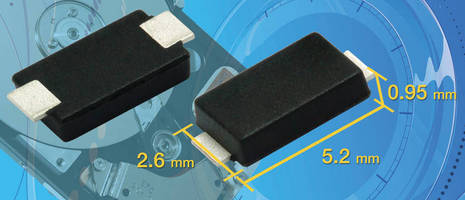 Transient Voltage Suppressors have low-profile, SMT design.