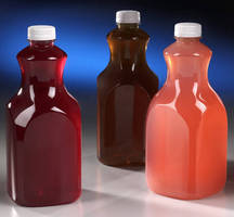 PET Beverage Carafe differentiates shelved beverage products.