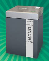 Optical Media Shredder destroys 2,400 CDs or DVDs per hour.