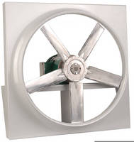 Direct Drive Panel Fan features spark-resistant impeller.