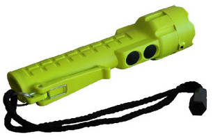 LED Flashlight features intrinsically safe design.