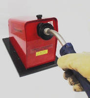 Weld Nozzle Cleaning System operates on 90-125 psi shop air.