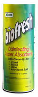 Disinfecting Absorbent facilitates biohazard cleanup.