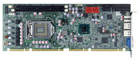 Full-Size PICMG 1.3 SBC offers multiple I/O, processor options.