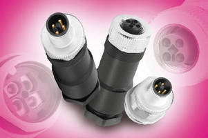 M12 Power Connectors feature T-coding to prevent mismatching.