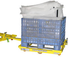 Low-Profile Cart aids in unloading of bulk containers.