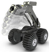 Pipe Inspection Crawler features motorized camera elevator.