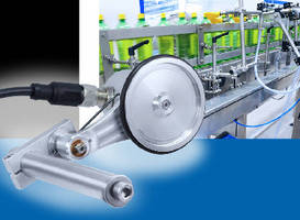 Measuring Wheel Encoder precisely determines conveyor speed.