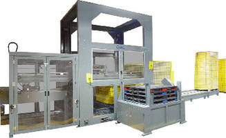 Servo Driven Depalletizer provides floor level operation.