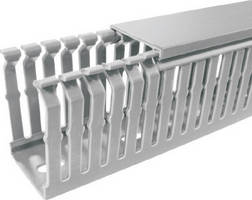 Wire Duct features narrow slot design for high-density uses.