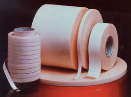 Acrylic Pressure-Sensitive Tape bonds glass and clear materials.