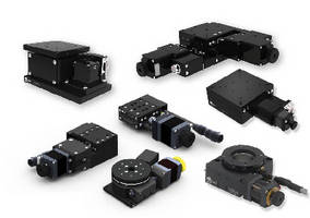 Motorized Positioning Stages offer 15-70 mm travel.