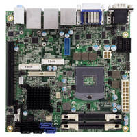 Mini-ITX Motherboard leverages Intel QM77 Express Chipset.