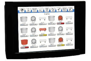 LCD Touch Panel Monitor remotely checks alarm probes.