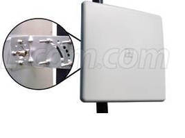 Flat Panel Antenna offers 9 dBi gain for 900 MHz band.