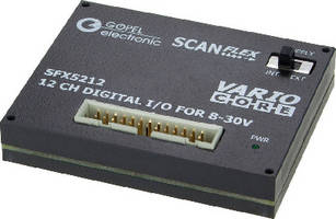 Boundary Scan I/O Module processes voltages up to 30 V.