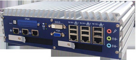 Fanless Embedded Controller offers up to 8 GbE LAN connections.