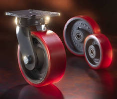 Polyurethane Wheels handle loads up to 7,200 lb.