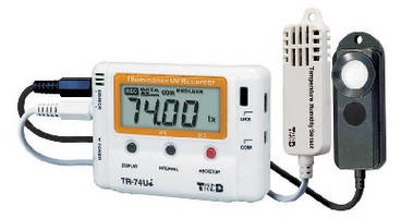 Data Logger measures luminance, UV, temperature, and humidity.