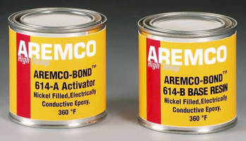 Nickel-Filled Adhesive is electrically and thermally conductive.