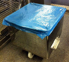Disposable Tote Bin Covers feature metal detectable design.