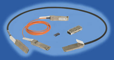 QSFP+ Active Optical Cable Assemblies comply with Infiniband FDR.
