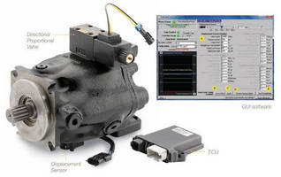 Electronic Controls optimize hydraulic pump performance.