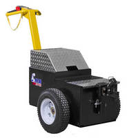 Electric Walk-Behind Tug ergonomically hauls heavy loads.