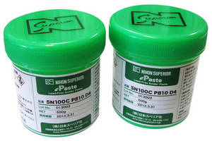 Solder Paste exhibits low voiding properties.