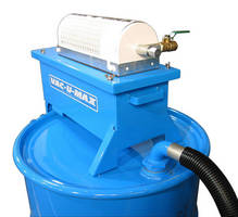 Industrial Vacuum Cleaner transfers liquid to drum at 1-2 gps.
