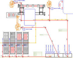 Cable Planning Software provides 2D layout of production area.