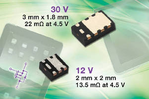 P-Channel MOSFETs offer industry-low on-resistance.