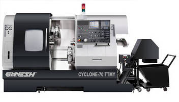CNC Turning/Milling Center offers multitasking capabilities.