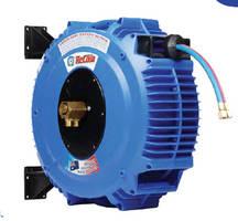 Gas Welding Hose Reel improves workspace safety, hose life.