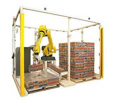 Robotic Palletizer offers portable end-of-line solution.