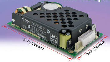 Open Frame 330 W AC/DC Power Supply saves space and energy.
