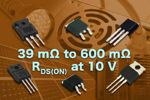 N-Channel Power MOSFETs offer on-resistance down to 39 mOhm.
