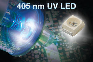 UV LED replaces mercury vapor lamps in curing operations.