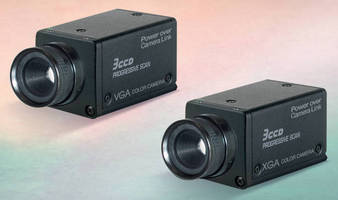 Progressive Scan Cameras suit machine vision applications.