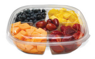 Multi-Compartment Bowls are made from 100% recycled plastic.
