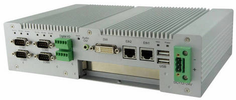 Fanless Embedded PC is powered by 1.86 GHz, dual-core processor.