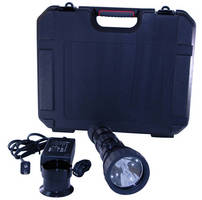 Explosion Proof HID Flashlight has rechargeable battery.