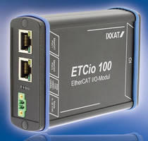 EtherCAT I/O Module fosters flexible application.