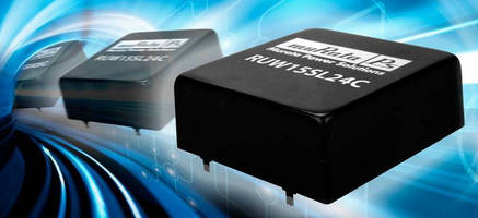 Wide Input 15 W DC/DC Converters serve transportation industry.
