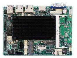 Embedded Fanless 3.5 in. SBC is powered by Intel Atom CPU.