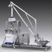 Mobile Bulk Bag Filler offers metal detection, tilt-down feeder.